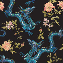 Embroidery Oriental Floral Pat...