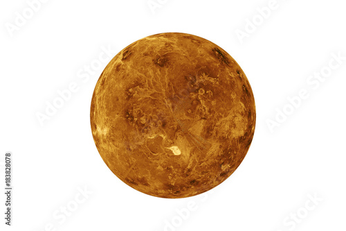 Deurstickers Nasa Planet Venus isolated on white. Elements of this image are furnished by NASA