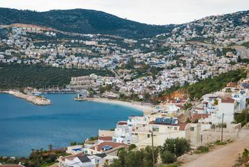Kalkan, provinces of Antalya, Turkey -March 12, 2014:city and port of Kalkan on the Mediterranean coast of Turkey, province of Antalya.
