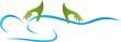 Mensch, Hände, Massage, Orthopädie, Logo
