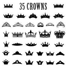 Crown Icons. Princess Crown. K...