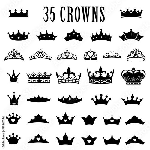 Fototapeta Crown icons