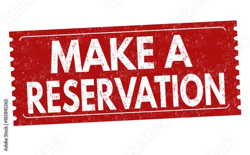 Make a reservation grunge rubber stamp Fototapet