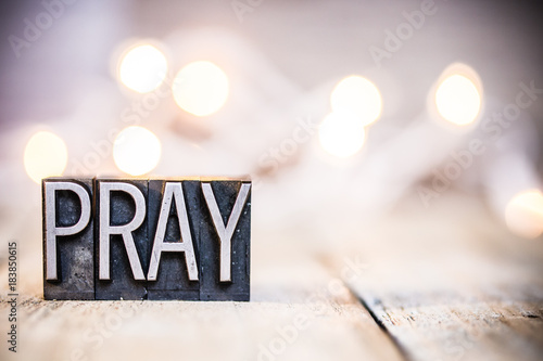 Pray Concept Vintage Letterpress Type Theme