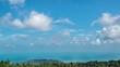 Bird Eye View of Koh Samui Island, Thailand. Time Lapse