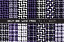 Ultra Violet Houndstooth Tarta...
