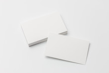Business Card On White Backgro...