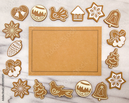 Gingerbread Christmas Cookie Background Buy This Stock Photo And
