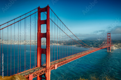 Poster Lieux connus d Amérique Golden Gate Bridge