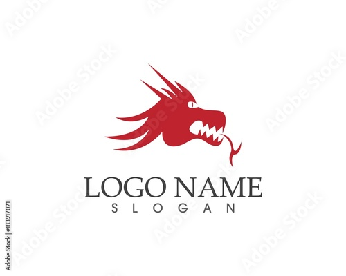 dragon head logo design template buy this stock vector and explore