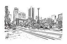 Sketch Of San Fransisco City R...