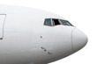 canvas print picture Close up isolated large passenger airplane nose.