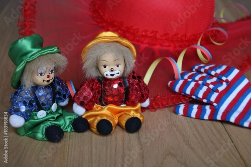 Fasching Hut Clown Und Handschuh Buy This Stock Photo And Explore