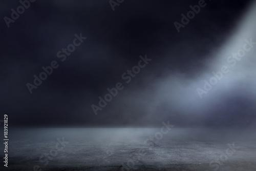 Fototapeta Texture dark concentrate floor with mist or fog obraz