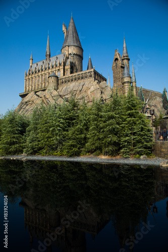 OSAKA, JAPAN - Nov 3, 2017. Photo of Hogwarts Castle. The Wizarding World of Harry Potter in Universal Studios Japan. Universal Studios Japan.jpg
