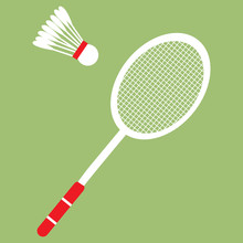 Vector Set Of Badminton Racket...
