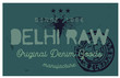 Delhi raw denim clothing tag, for retail business, denim or other product.