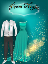 Starry Night Prom Invitation