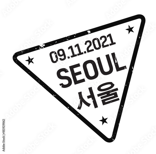 Photo  Seoul postage stamp