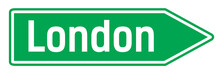 London City Sign. Road Sign Wi...