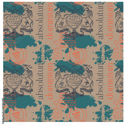Absolutum dominium - absolute dominion in latin language Canvas Print