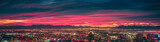 Fototapeta Miasto - early morning sunrise over valley of fire and las vegas