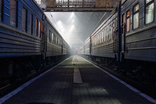 Photos Of Trains On Evening Train Station