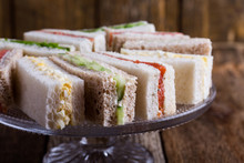 English Tea Sandwiches On Cake...