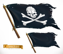 Pirate. Black Flag. Jolly Roge...