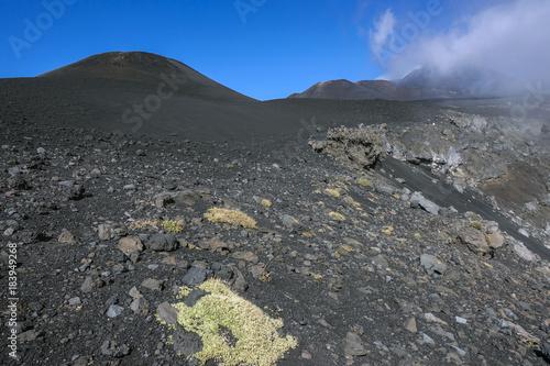 crateri sommitali vulcano Etna 70 Canvas Print