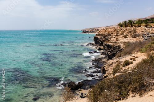 Papiers peints Cote Rocky coast near from Costa Calma, Fuerteventura, Canary Islands.
