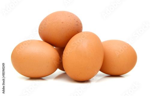 Photo Eggs isolated on white background