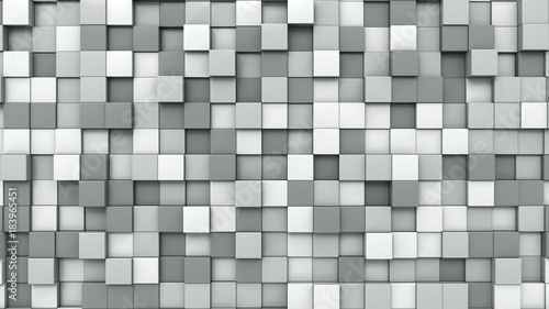 Grey cubes background, 3D rendering