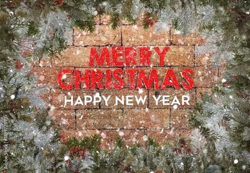 Yılbaşı Tebrik Kartı Yeni Yıl Arka Plan Noel Buy This Stock