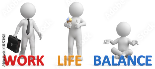 Fotografía  3d Männchen work - Life - Balance