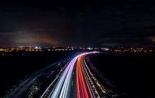 Schnellstraße Am Abend