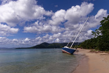 Grounded Boat In Sainte Anne I...