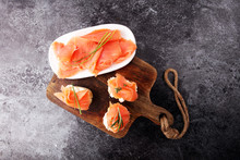 Bread With Smoked Salmon And C...