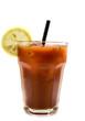 Bloody Mary Cocktail isoliert freigestellt auf weißen Hintergrund, Freisteller