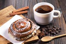 Coffee And Fresh Bun