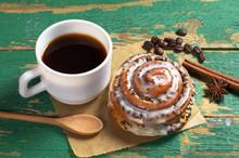 Coffee And Sweet Bun