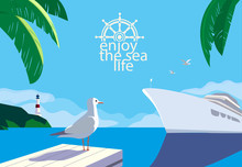 Nautical Blue Sea Scenic View....