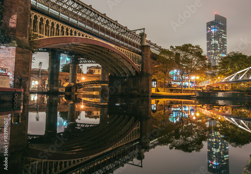 Manchester Reflections Canvas Print