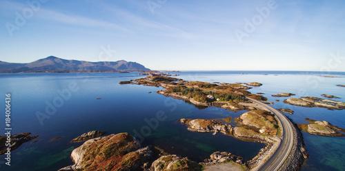 Aerial view of the Atlantic Ocean Road, Norway