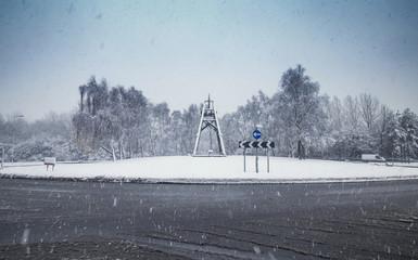 British Roads in Snow