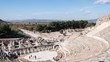 Timelapse Theatre of Ephesus Ancient City at november at sunny day, Turkey.
