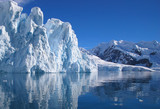 Climate change affected glacier in Antarctica