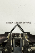 Happy Thanksgiving Typed On A Vintage Typewriter
