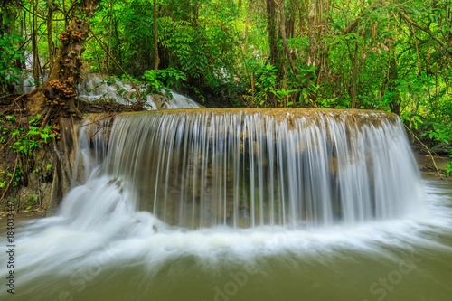 Wall Murals Waterfalls Erawan waterfall, Beautiful waterwall in nationalpark of Kanchanaburi province, ThaiLand.