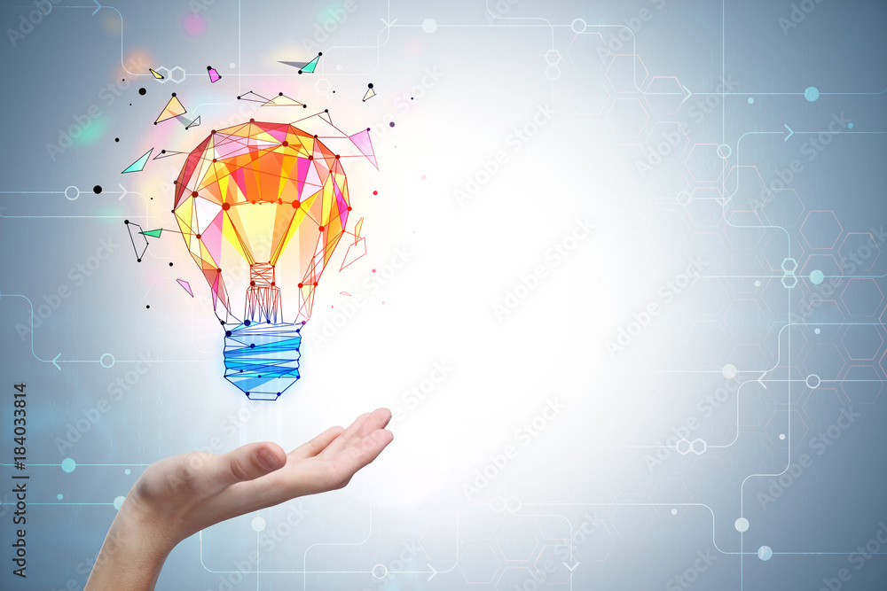 Fototapeta Enlightenment and innovation concept